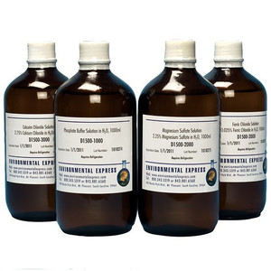 BOD: 4-Bottles Set, P/Mg/Ca/Fe Solutions, 1L bottles