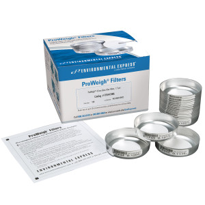 ProWeigh Glass Fiber Filters for Volatiles, Prepared, LOT #, pack/100
