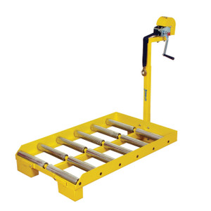 "Battery Transfer Cart with Adjustable Winch Height, 27.25""W x 41.5""H x 55.875""D"