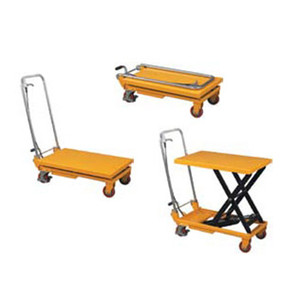 660 Lb Capacity Folding Handle Scissors Lift Table with Lever Release Handle