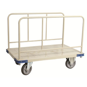 "Commercial Quality Steel Panel Cart, 30""W x 37""H x 48""D"