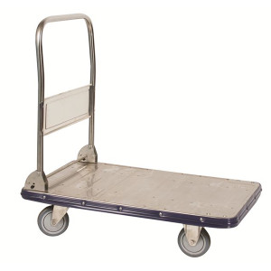 """Stainless Steel Folding Handle Truck, 19""""W x 34.5""""H x 29""""D"""