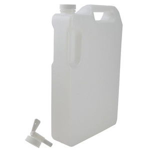 Space Saver Bottle with Spigot, 5 liter, HDPE, case/12