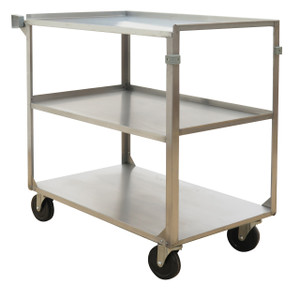 Stainless Steel Service Cart, 500 lb Capacity