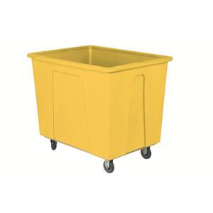 Yellow Plastic Box Truck 20 Bushels, 600 Lb Capacity