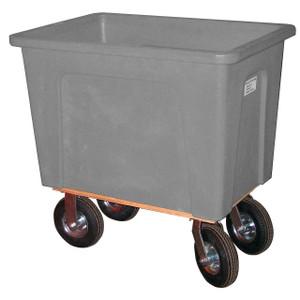 Grey Plastic Box Truck 16 Bushels, 600 Lb Capacity