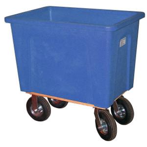 Blue Plastic Box Truck 16 Bushels, 600 Lb Capacity