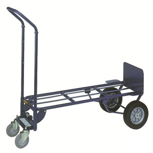 "Handle locks 2-in-1 Deluxe Industrial Steel Hand Truck, 20.5""W x 53""H x 19""D"