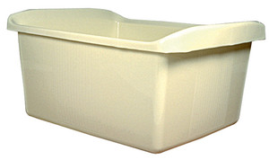 "Utility Tray / Lab Tote with Handles, LDPE, 14-1/2"" x 12"" x 6-1/4"", case/4"