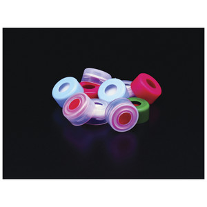 11mm Clear LDPE Snap Top Cap, Molded Starburst Septa, case/1000