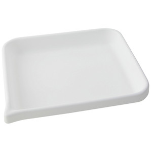 Lab Tray, Rounded Edge with Pour Spout, HDPE, 9 x 7 x 1.5""