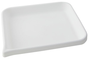 """Lab Tray, Rounded Edge with Pour Spout, HDPE, 13 x 11 x 2"""""""