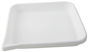 """Lab Tray, Rounded Edge with Pour Spout, HDPE, 15 x 13 x 2.5"""""""