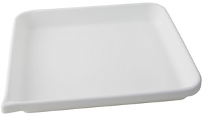 Lab Tray, Rounded Edge with Pour Spout, HDPE, 17 x 14 x 2""