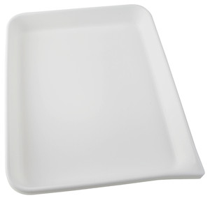 Lab Tray, Rounded Edge with Pour Spout, HDPE, 24 x 20 x 3.5""
