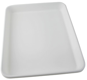 """Lab Tray, Rounded Edge with Pour Spout, HDPE, 27-3/4 x 23-1/2 x 3 1/4"""""""