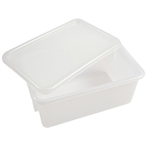 "Sterilizing Tote Boxes, Autoclavable Polypropylene, 12"" x 8"" x 5"", case/6"