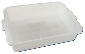 """Lab Storage Tote Box, Natural HDPE, Stackable, 21-3/8"""" x 15-1/2"""", case/6"""