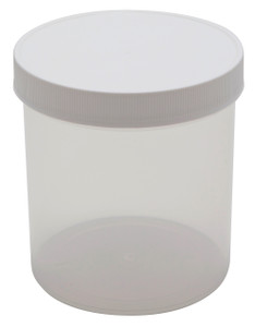 Straight Side Jars, PP, Natural 40 oz, 120mm, case/24