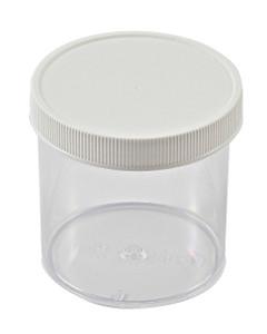 Straight Side Jars, Polystyrene, 6 oz, 70mm, case/36