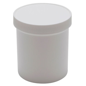 Jars, Polypropylene, White 16oz, case/36
