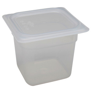 Cambro Storage Containers, Translucent PP with Lid, 2.4 Qt, case/6