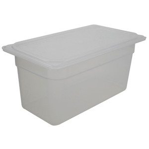 Polypropylene Storage Containers, Translucent with Lid, 5.6 Qt, case/6