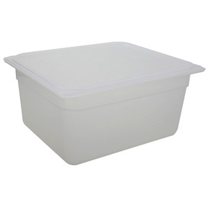 Cambro Storage Containers, Translucent PP with Lid, 9.4 Qt, case/6