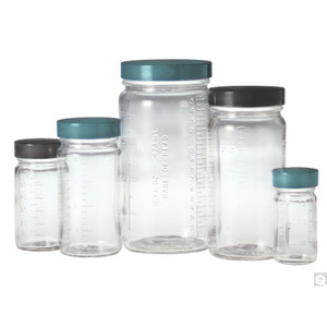 2oz (60mL) ValuLine Clear Graduated Medium Round, 38-400 PP F217 & PTFE Lined Caps, case/48