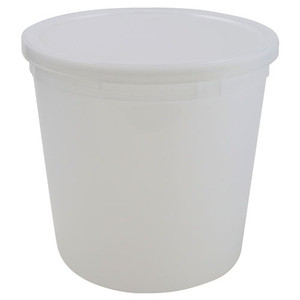 Disposable Specimen Containers with Lid, Transparent, 165oz, case/25