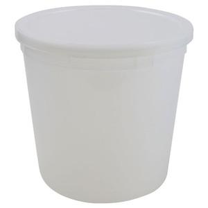 Disposable Specimen Containers with Lid, Transparent, 165oz, case/25