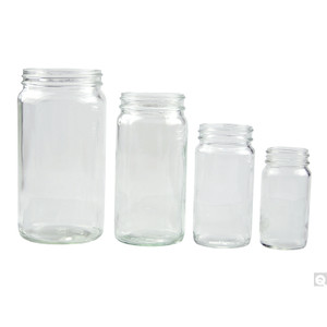 16oz (480mL) Clear Glass Bottles, 70-400 Phenolic Solid PE Lined Caps, case/48