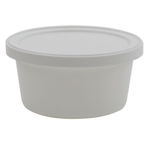 Disposable Specimen Containers with Lid, White 4oz, case/250