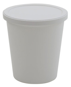 Disposable Specimen Containers with Lid, White 8oz, case/250