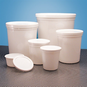Disposable Specimen Containers, Assorted Sizes, Set of 100