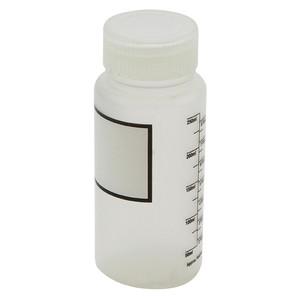 Wide Mouth Bottles, Polypropylene, Plain Label, Graduated 250mL, case/12