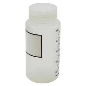 Wide Mouth Bottles, Polypropylene, Plain Label, Graduated 500mL, case/12