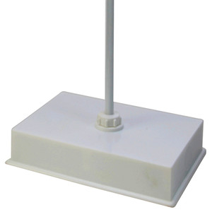 """Single Rod Retort Stand with Weighted Center Rod, 6-3/4"""" x 9-7/8"""" x 2-1/16"""""""