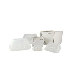 1 Gallon (128oz) LDPE Cubitainer, Carton & 38-400 PP SturdeeSeal PE Foam Lined Caps, case/8