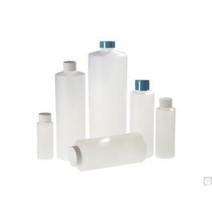 8oz (240mL) HDPE Cylinder, 24-410 White PP SturdeeSeal PE Foam Lined Caps, case/336