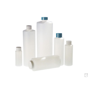 16oz (480mL) HDPE Cylinder, 24-410 Green Thermoset F217 & PTFE Lined Caps, case/24