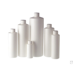 6oz (180mL) White HDPE Cylinder, 24-410 White PP SturdeeSeal PE Foam Lined Caps, case/300
