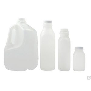 8oz (240mL) HDPE Dairy Jug, 38-400 PP SturdeeSeal PE Foam Lined Caps, case/500