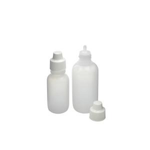 2oz (60mL) LDPE Nasal Spray Bottle, 18-410 White LDPE Unlined Overcap & Plug, case/48