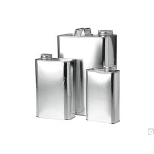 """1 Pint (16oz) (112 x 314 x 514) Metal Oblong F-Style Can, 1-1/4"""" opening, without Handle, case/225"""