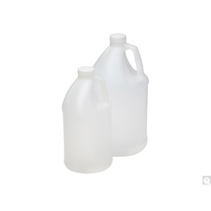 64oz (1920mL) HDPE Round Jug, 38-400 PP SturdeeSeal PE Foam Lined Caps, case/40