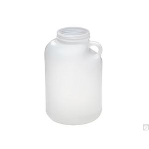 4L HDPE Wide Mouth Round Jug, 89-400 PP SturdeeSeal PE Foam Lined Caps, case/60