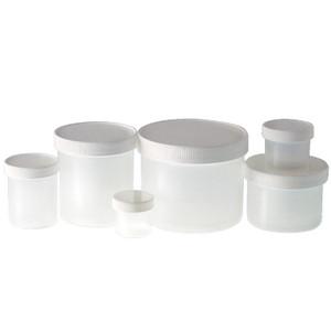 8 oz Natural PP Jar, 70-400 White PP Unlined Caps, case/1000