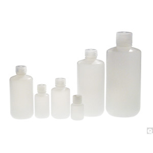 32oz (960mL) HDPE Narrow Mouth Lab Style Bottle, 38-415 PP Linerless Caps, case/50