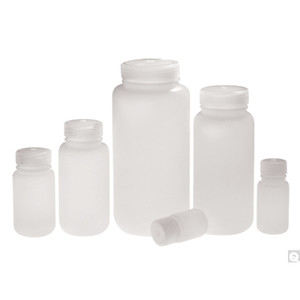 4oz (120mL) HDPE Wide Mouth Lab Style Bottle, 38-415 PP Linerless Caps, case/500